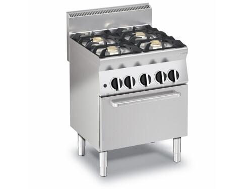 Gas Herd Mit 4 Brennern Und Gas Backofen 24 Kw Ofen Mit Statischer